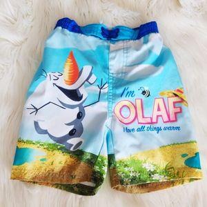 Disney's Olaf from Frozen Swim Trunks 2T